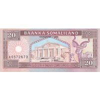 Сомалиленд 20 шиллингов 1994 UNC