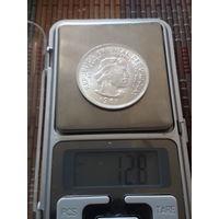 УРУГВАЙ 10 песо 1961 год/ серебро/