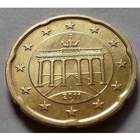 20 евроцентов, Германия 2011 J, AU