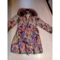 Пальто воротник песец 50-52размер