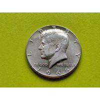 США. 50 центов 1966 (1/2 доллара, Kennedy Half Dollar), серебро.