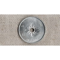 Лаос 20 сантимов атт 1952 //FV/