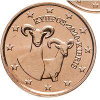 2 евроцента 2020 Кипр UNC из ролла
