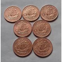 1/2 пенни, Великобритания погодовка 1960-х
