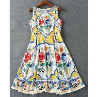 Летнее платье в итальянском стиле