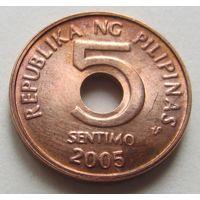 Филиппины,5сентимо2005г.