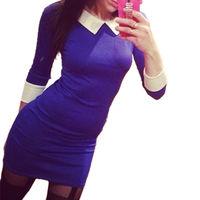 Платье с воротником 46р
