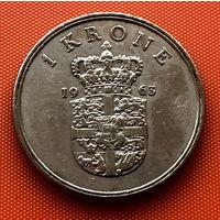 107-07 Дания, 1 крона 1963 г.