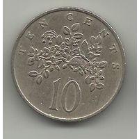 10 цент Ямайка цветки