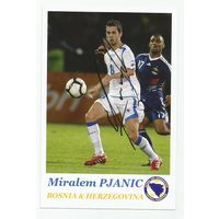 Miralem Pjanic(Босния и Герцеговина). Фотография с живым автографом.