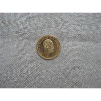 ШВЕЦИЯ: 5 крон золото 1894 год