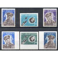 Космос Албания 1963 год полная серия из 6 марок
