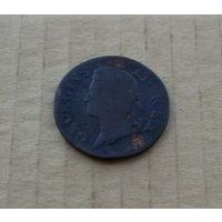 Великобритания (для Ирландии), Георг II (1727-1760), полпенни 1747 г.