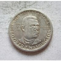 США 1/2 доллара 1946 Букер Талиафер Вашингтон (S - Сан-Франциско) - пореже!