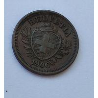 Швейцария 1 раппен, 1906 7-5-26