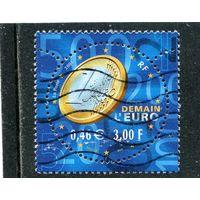 Франция. Монета. Евро на марке