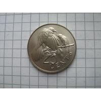 Британские виргинские острова 25 центов 1974г.