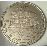 Остров ТРОМЛЕН 50 франков 2013 год (оригинал)