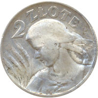 Польша 2 злотых 1925г. Жнея