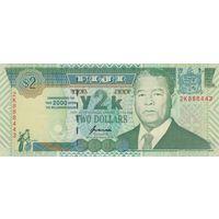 Фиджи 2 доллара 2000 года (UNC)
