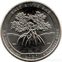 25 центов США 2020 г.  53 й Национальный исторический парк и экологический заповедник Бухта Солёной реки Р