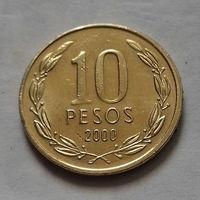 10 песо, Чили 2000 г.
