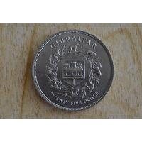 Гибралтар 25 новых пенсов 1977(25 лет правлению Королевы Елизаветы II)