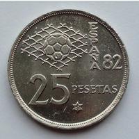 Испания 25 песет. 1980. 82