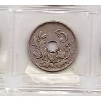 5 сантимов 1913 Бельгия (BELGIQUE). Возможен обмен