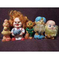 Лот резиновых игрушек СССР