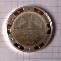 Валюты Европы 1 марка 2001г. стерео-вставка