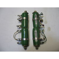 Резисторы 1ПЭВР-25  10 Ом +-5% (соединены попарно,на стойке)