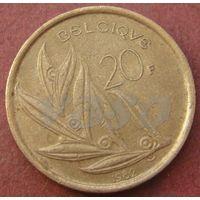 6171:  20 франков 1982 Бельгия