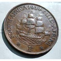 ЮАР 1 пенни, 1934 1-5-25