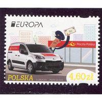 Польша. Европа СЕРТ 2013. Почтовый транспорт