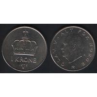 Норвегия km419 1 крона 1975 год (AB) (h02)