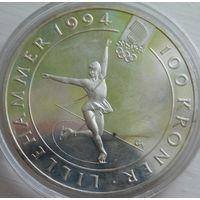 40. Норвегия 100 крон 1993 год, серебро*