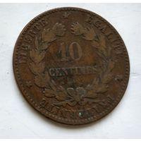 Франция 10 сантимов, 1872 A - Париж 2-5-5