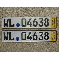 Автомобильный номер Германия WL04638