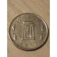 Мальта 5 центов 1972г.