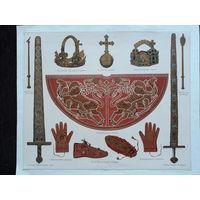 """Литография """"Регалии Священной Римской империи германской нации"""""""