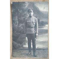 Фото военного. 1918 г. 9х14 см