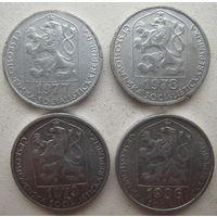 Чехословакия 5 геллеров 1977, 1978, 1979, 1986 гг. Цена за 1 шт. (g)