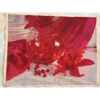 Вышивка Красный натюрморт 36 на 28 см
