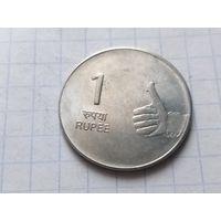 Индия 1 рупия, 2009 ( Отметка монетного двора - Мумбаи )