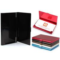 Визитница карманная, алюминевая, чёрная, для пластиковых карт и визиток. распродажа