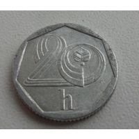 20 h 1993 г.в. Чехия, KM# 2.1 20 HALERU, из коллекции