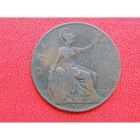 Великобритания 1 пенни  1905г. Эдуадр VII.