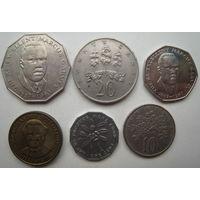 Ямайка 1 цент 1975, 10 центов 1972, 20 центов 1986, 25 центов 1994, 50 центов 1989, 1 доллар 1994 гг. Цена за набор (u)