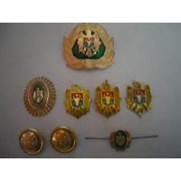 Кокарды, эмблемы, пуговицы Республики Молдова.
